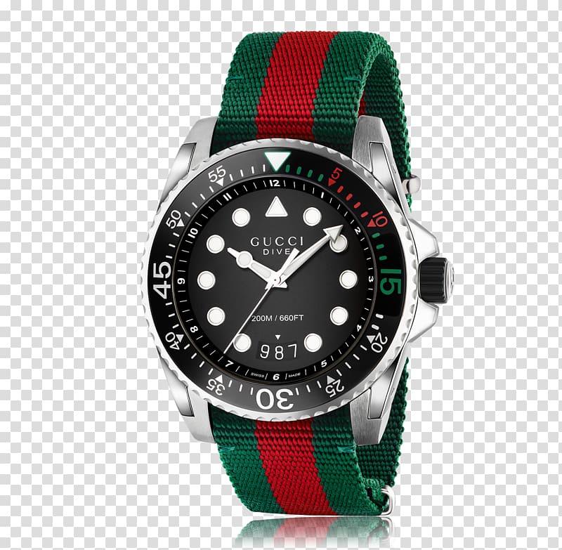 Gucci Dive Quartz Watch Jewellery Strap, watch transparent.