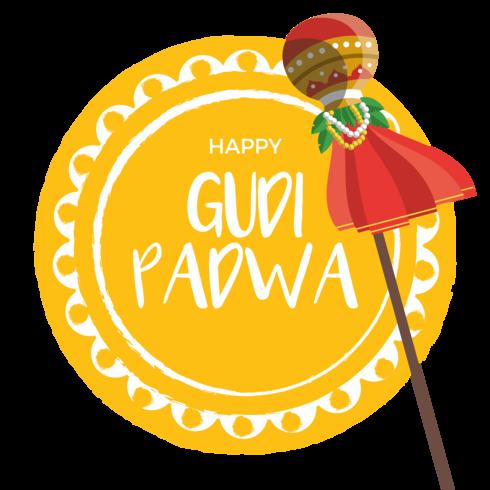 Gudi Padwa Greeting Card Vector.