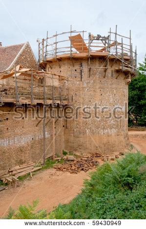 Guedelon Medieval Castle Arrow Slit Stock Photo 60772132.