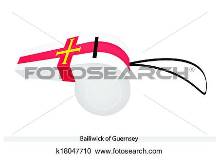 Clipart of A Whistle of The Bailiwick of Guernsey k18047710.