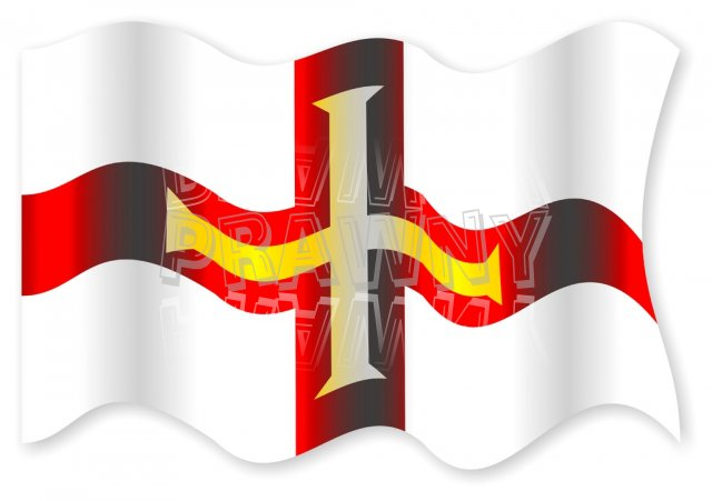 The National Flag of Guernsey Clipart.
