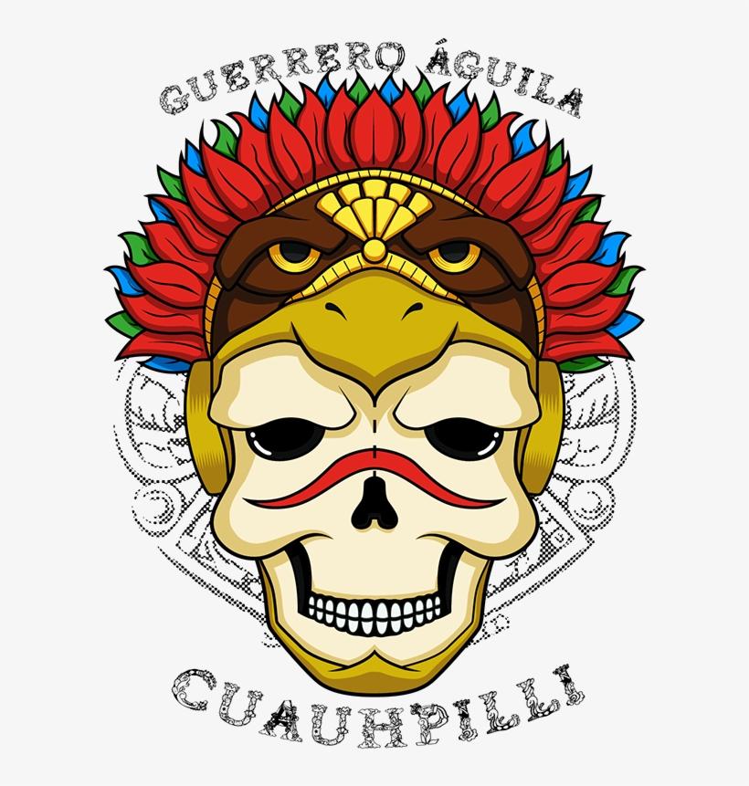 Calavera Guerrero Águila Azteca On Behance Aztec, Skulls.