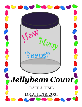 Jellybean Count Fundraiser.