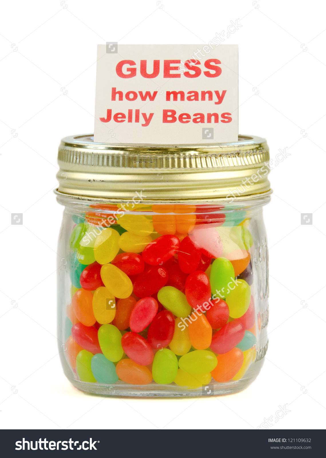 Guess How Many Jelly Beans Mason Stock Photo 121109632.