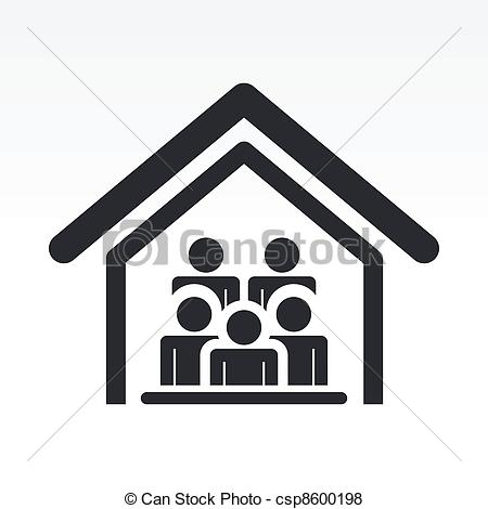 Vector of Vector illustration of guests house icon csp8600198.