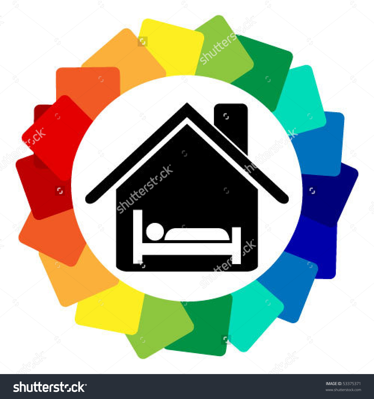 Guest House Design Stock Vector Illustration 53375371 : Shutterstock.