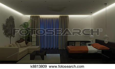 Stock Illustration of Guest room k8813809.