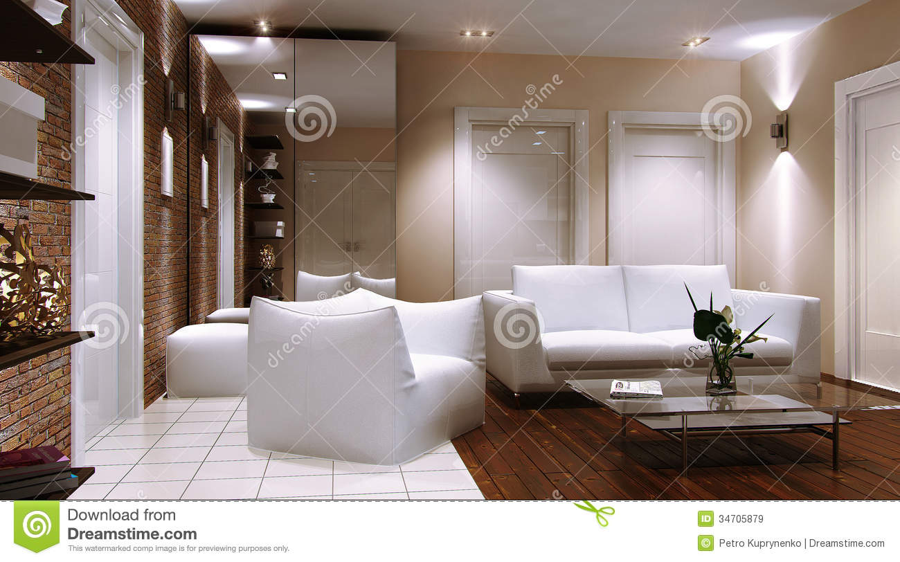 Guest Room, Living Room Royalty Free Stock Images.