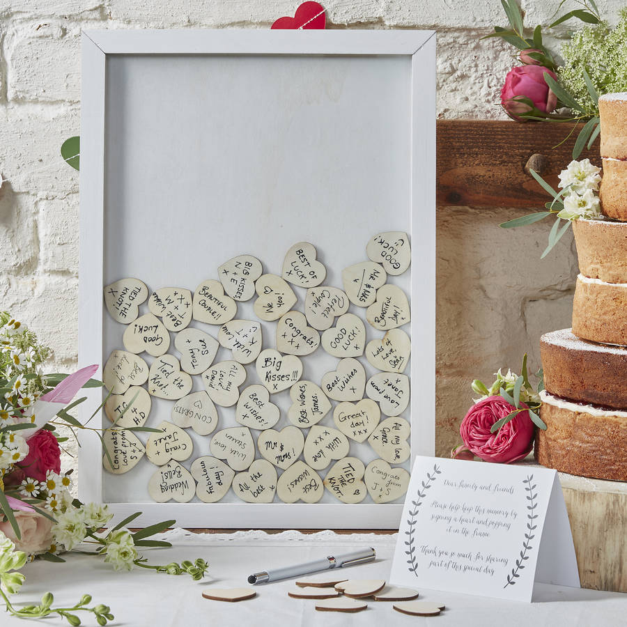 frame drop top wedding guest book alternative by ginger ray.