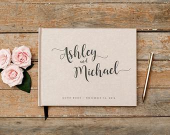 Wedding guest book.