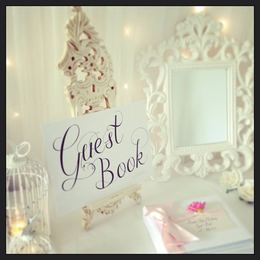 wedding guest book sign by made with love designs ltd.