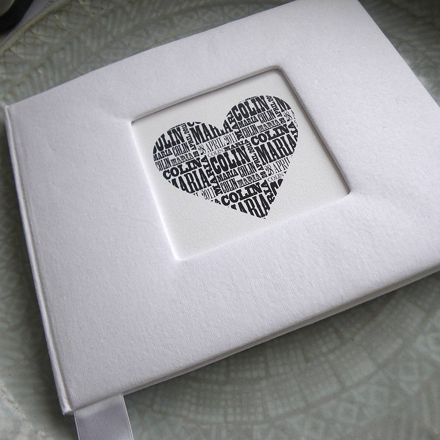 personalised wedding guest book by letterfest.