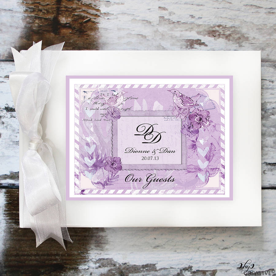 vintage wedding guest book by 2by2 creative.