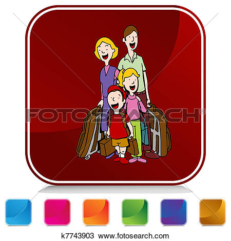 Clip Art of Hotel Guests k5731139.