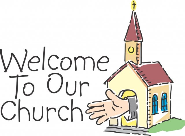 Welcome To Our Church Clipart.
