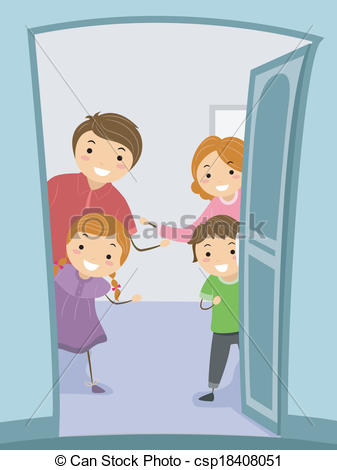 Clipart Vector of Warm Welcome.