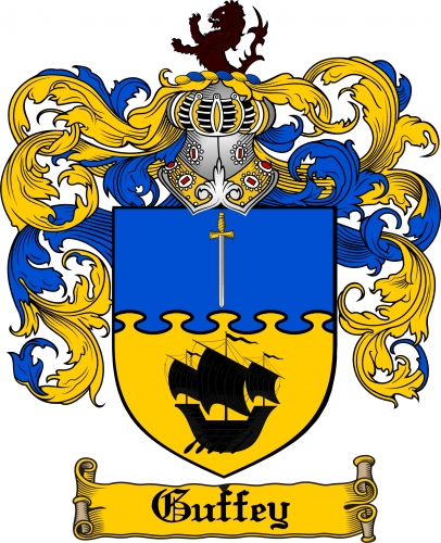 Guffey Coat of Arms Guffey Family Crest Instant Download.