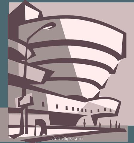 Guggenheim Museum New York City Royalty Free Vector Clip Art.