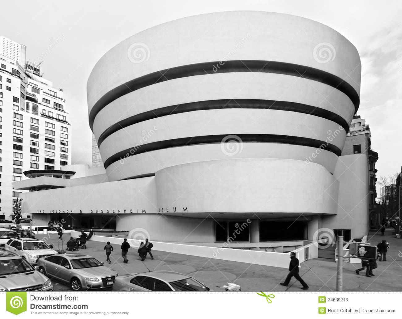 Guggenheim Museum, New York City Editorial Stock Photo.
