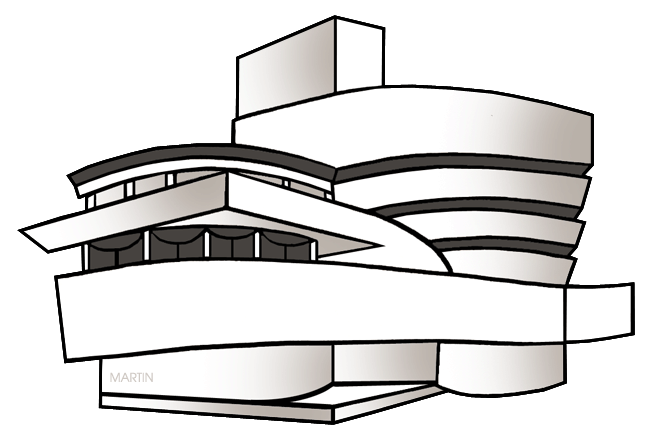Free Architecture Clip Art by Phillip Martin, Guggenheim Museum.