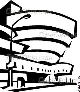 Guggenheim Museum New York Vector Clip art.