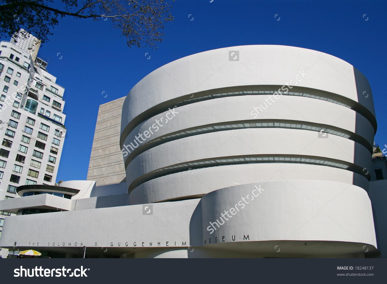 Facade Guggenheim Museum New York City Stock Photo 18248137.
