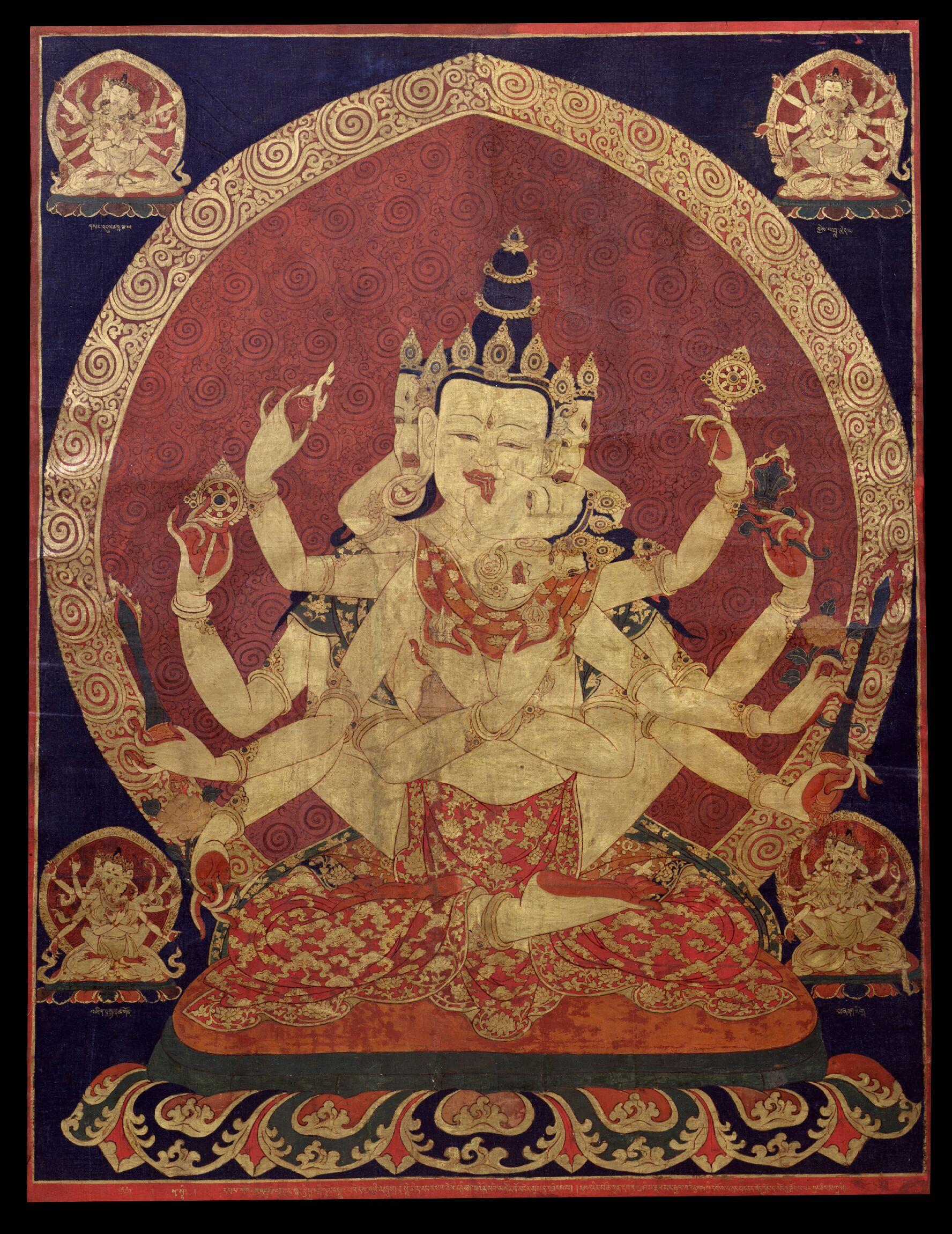 File:17th century Central Tibeten thanka of Guhyasamaja.