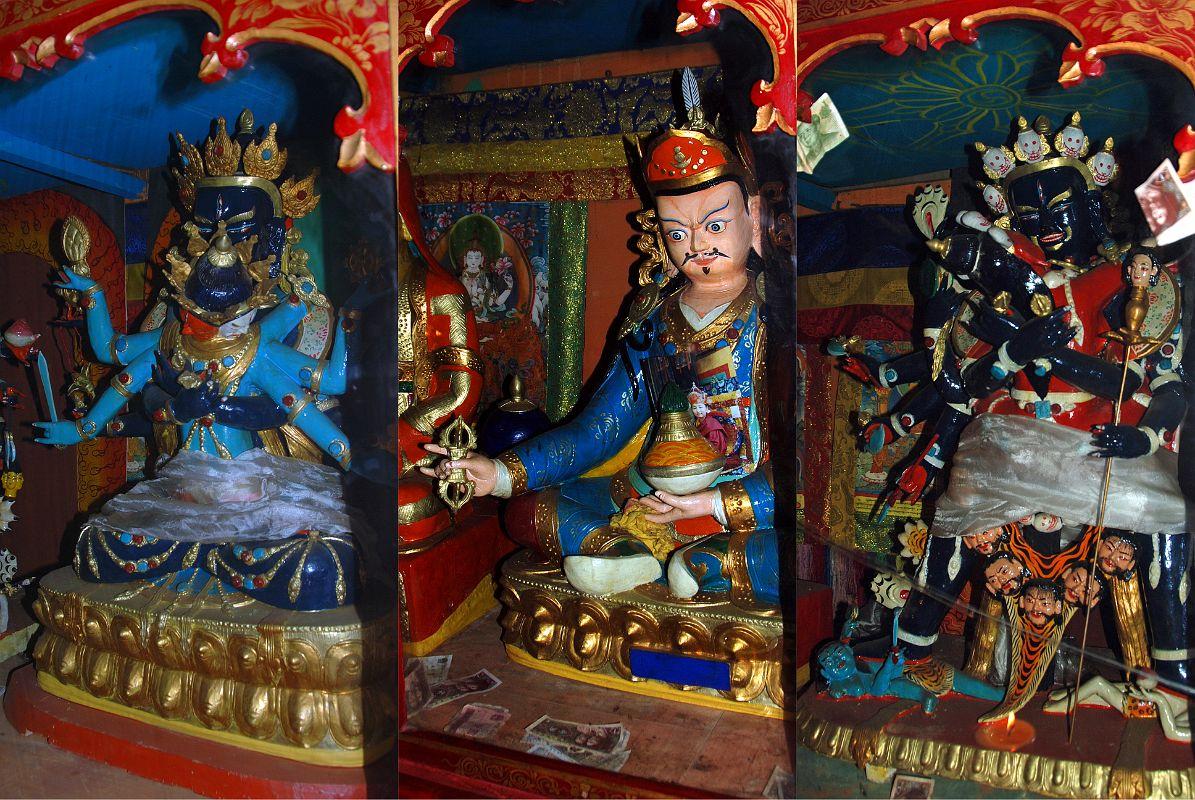 26 Trugo Gompa Statues Of Guhyasamaja Akshobhyavajra.