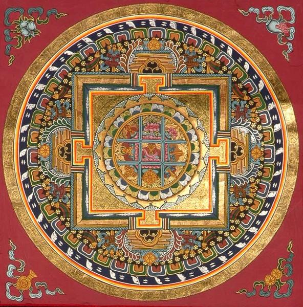 with Symbols of Guhyasamaja Akshobhyavajra.