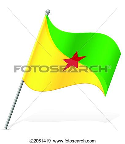 Clip Art of flag of French Guiana vector illustration k22061419.