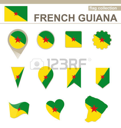 Map Of French Guiana Stock Vector Illustration And Royalty Free.