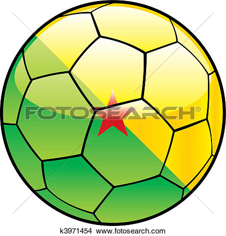 Clipart of French Guiana flag on soccer ball k3971454.