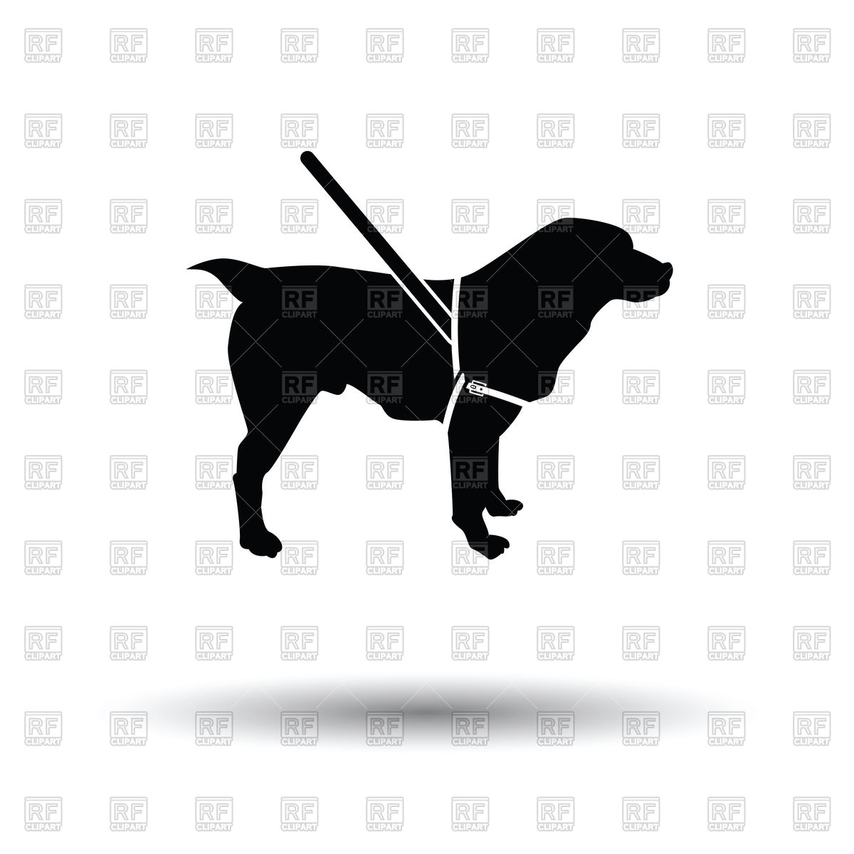 Guide dog silhouette Vector Image #162631.