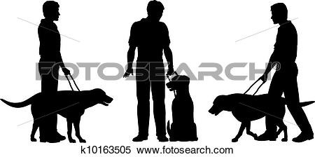 Clipart of Guide dog k10163505.