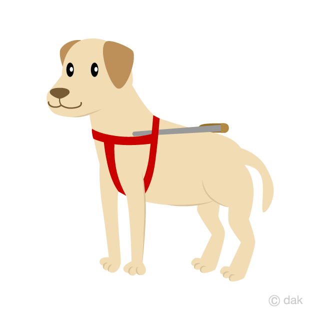 Guide Dog Clipart Free Picture|Illustoon.