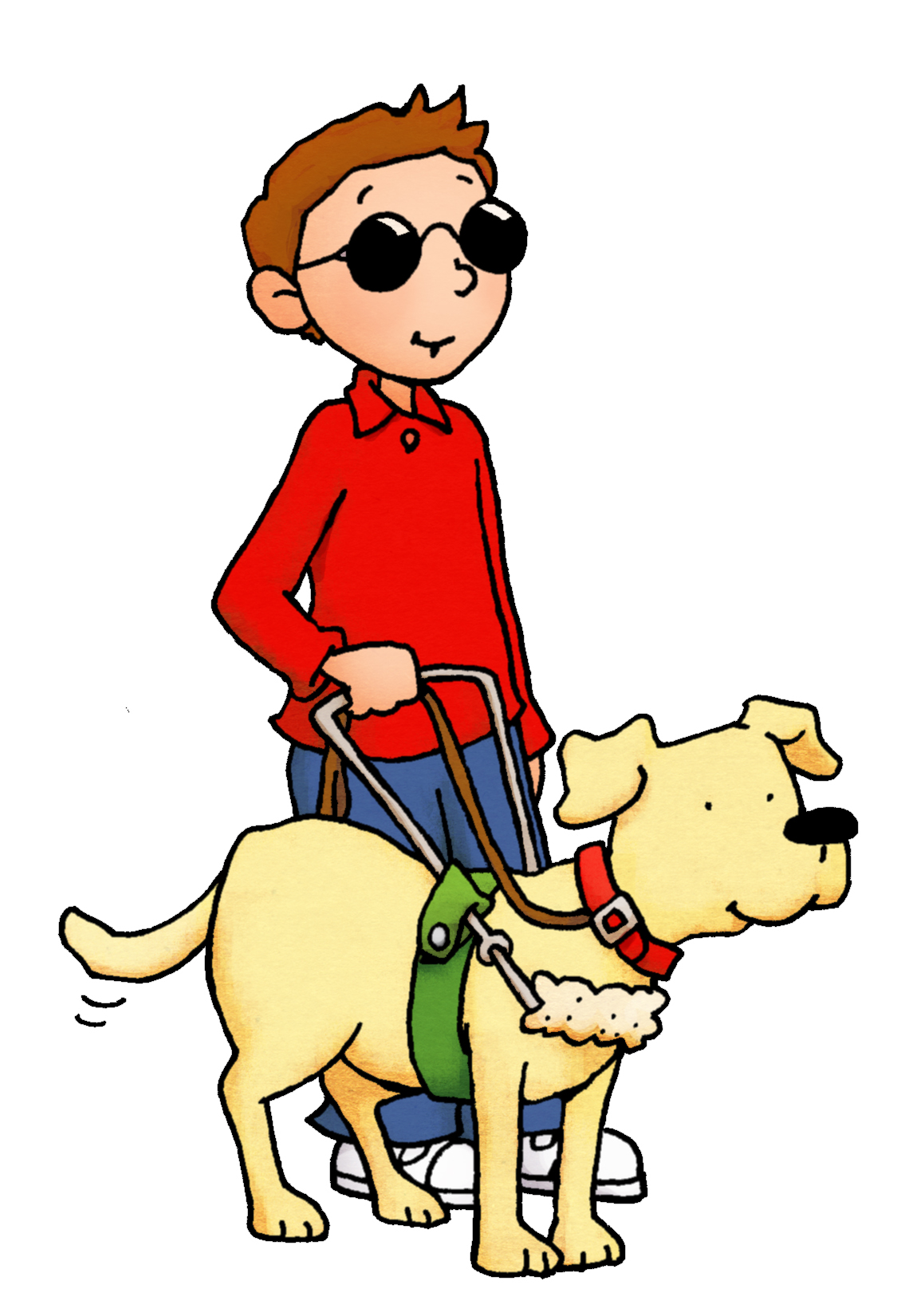 seeing eye dog coloring pages - photo#11