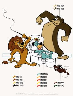 Details about Hanna Barbera STYLE GUIDE PLATE.