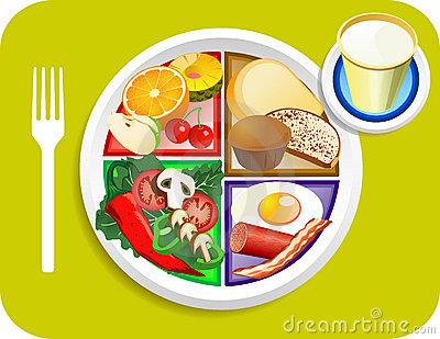 Vegan Dinner Food My Plate Stock Image.