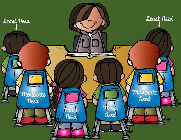Guided reading group clipart.