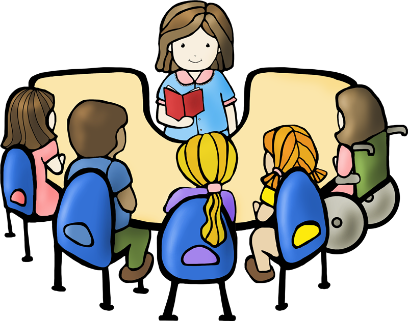 Reading Table Clipart.
