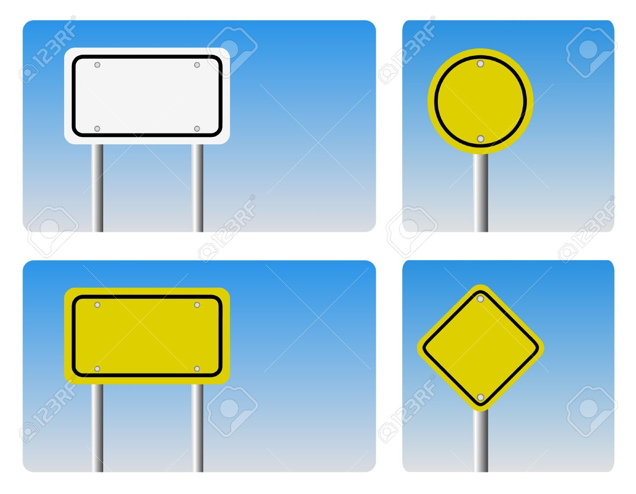 Blank Guidepost Sign Royalty Free Cliparts, Vectors, And Stock.