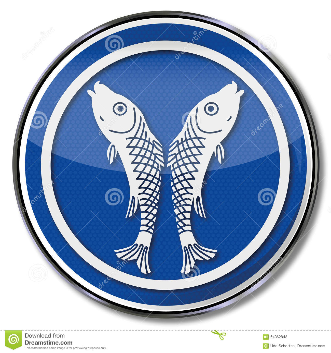 Guild Sign Of A Fisherman Stock Vector.