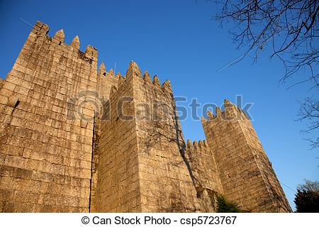 Picture of Guimaraes Castle, home of the first Portuguese King.