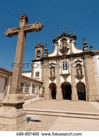 Stock Photograph of Iglesia de San DBmaso. Guimaraes. Portugal.