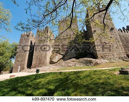 Stock Photography of Castillo de Guimaraes, Portugal k89.