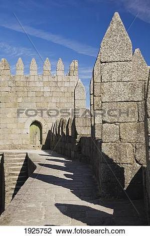 Stock Photo of exterior of medieval castle; guimaraes, portugal.