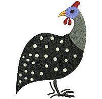 Guinea Fowl Clipart.