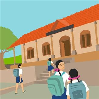 guing to school clipart #10