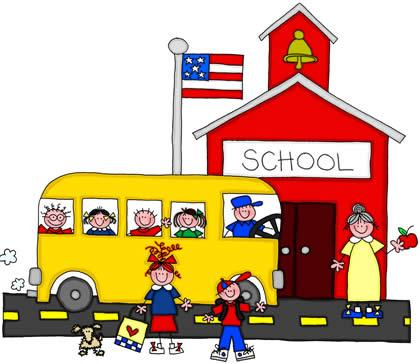 Guing To School Clipart.