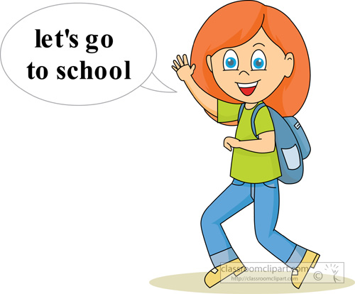 Goign To School Clipart.